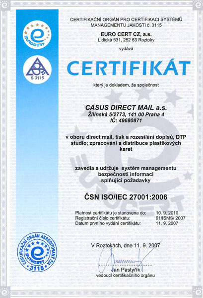 ISO 27001 Cerfitication